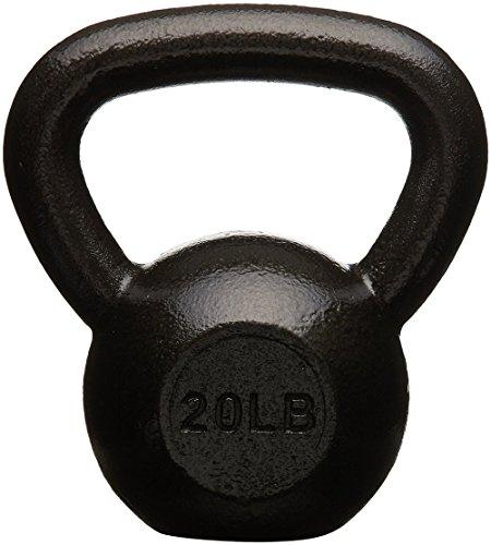AmazonBasics Cast Iron Kettlebell - 20 Pounds, Black