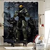Halo 3 Master Chief Farmhouse Shower Curtain with 12...