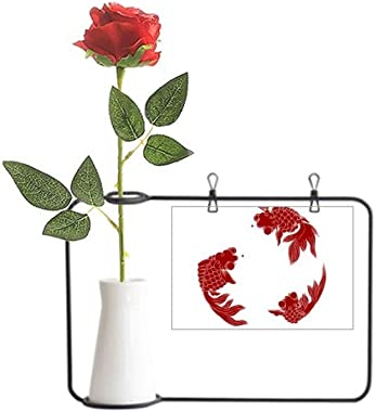 Red Cyprinoid Art Deco Gift Fashion Artificial Rose Flower Hanging Vases Decoration Bottle