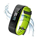 Pulsera Actividad Vigorun Pantalla Color Reloj con Pulsómetro Impermeable IP68 Podómetro Pulsera Deportiva Reloj para Xiaomi Samsung Huawei Android iOS Teléfono para Hombre y Mujer