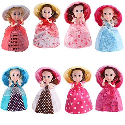 YeahiBaby Magdalena Sorpresa Perfumada Princesa Muñeca Mini Magdalena Princesa Muñeca Magia Regalo Juguetes para Bebés (Color aleatorio)