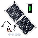 InLoveArts Cargador solar plegable, paneles solares de celdas de...