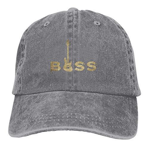 XCNGG Regalo de Bajista American Pride Sombreros de Vaquero Unisex Sombrero de Mezclilla Deportivo Gorra de béisbol de Moda Negro