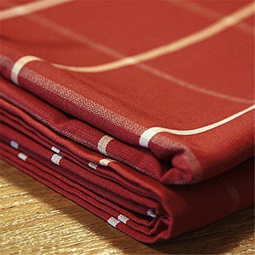 Tissu chiffon rouge vin de table nappe à carreaux tissu table rectangulaire, Haute - rouge grand réseau (des deux côtés),140*160cm