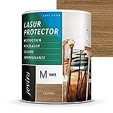 LASUR PROTECTOR AL AGUA MATE Protege, decora y embellece todo tipo de madera. (750 ml, CAS...