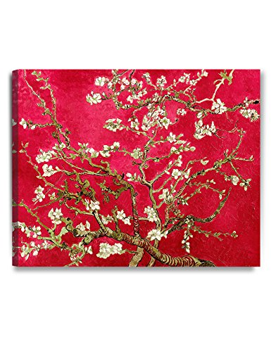 DECORARTS- Red Almond Blossom Tree, Vincent Van Gogh Classic Art, Giclee Print Canvas Art