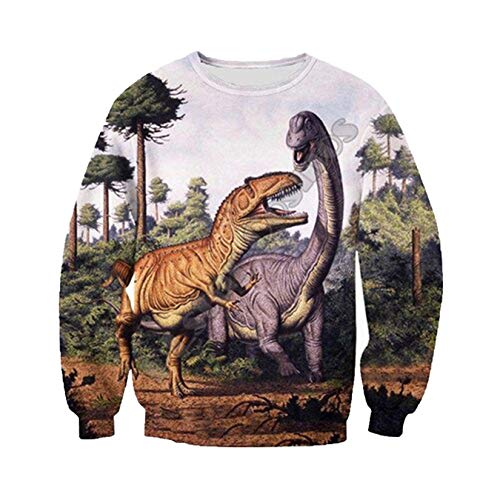 3D Full Print Unisex Harajuku Streetwear Dinosaurio Animal Camo Cremallera/Sudadera/Sudadera/Chaqueta...