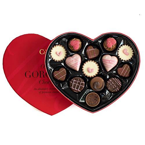 Chocolate Martin's Chocolatier en una caja con forma de corazón de chocolate regalo