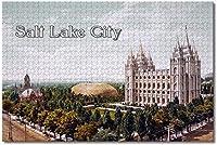 BEI YU MAN.co アメリカアメリカソルトレイクシティテンプルスクエアジグソーパズル大人用キッズ1000ピース木製パズルゲームギフト用家の装飾特別な旅行のお土産
