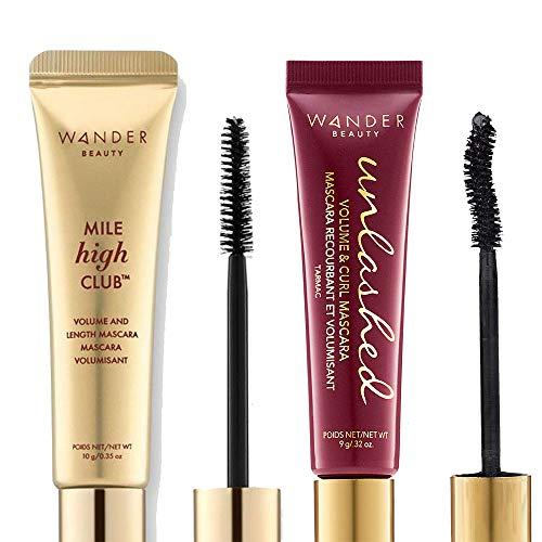 Wander Beauty Mile High Club Volume & Length Black Mascara + Unlashed Volume & Curl Mascara Black Mascara - A 21% Savings!