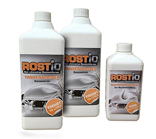 2 Liter Rostio Tankentroster + 500ml Tank-Schutzemulsion Tankversiegelung Set - Tankentrostung leicht gemacht