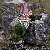 Gartenzwerg Lustig, 12cm Zwerg, Gartenfiguren FüR AußEn, Gartenzwerge Wetterfest, Erdmännchen Gartenfigur, Harz Cartoon Ornamente, Baum Garten Dekoration (E)
