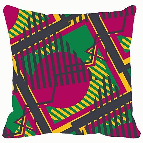 Seamless pop Art Abstracto colorido abstracto 70s fondos abstractos texturas 70s fondos texturas fundas fundas de cojín funda de almohada hogar sofá sofás almohadas almohadas almohadas 45,7 x 45,7 cm