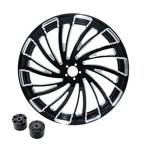 SLMOTO 26'' X 3.5'' Motorcycle Front Wheel Rim Dual Disc w/Wheel Hub Fit for 2008-2020 Harley Touring FLT FLHT FLHTCU FLHRC Road King Road Street Electra Glide Ultra-Classic non ABS