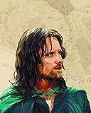 Aragorn Poster – Herr der Ringe – Wanddekoration –