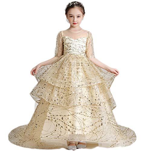 LHY- Traje del Funcionamiento de Las niñas Vestido de Flore