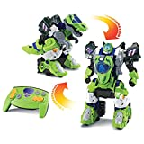 VTech - Switch & Go Dinos - Furio, Méga T-Rex Robot RC, Transformation Automatique, Radiocommandé - Version FR
