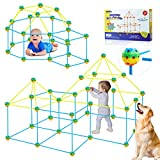Fort Building Kit Tent for Kids Play Tents -Fun Forts STEM Building Toys,Play Tent Fort Kit with 99 Pcs Foldable Playhouse Toy for Indoor & Outdoor Gifts
