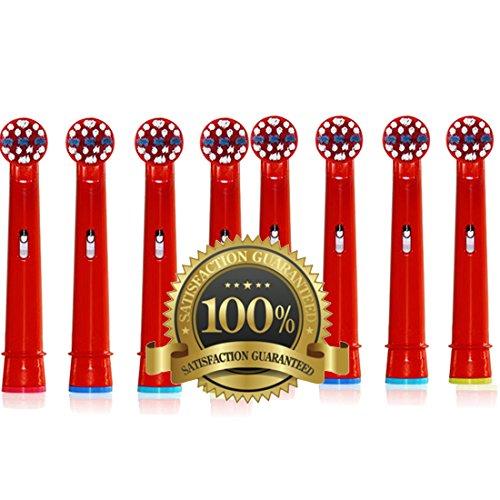 Drkao Clean Aufsteckbürsten für Oral B Kinder Elektrische Zahnbürstenköpfe für Braun Oral B Elektrische Zahnbürste Kinder Aufsteckbürsten Köpfe für Oral-B kids Aus Hochwertigem Dupont-Nylon, 8 Stück