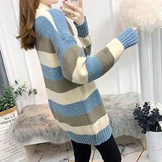 SDJYH suéteres y Jerseys de Mujer Otoño Invierno Jersey de Manga Larga Jersey de Punto Informal 36