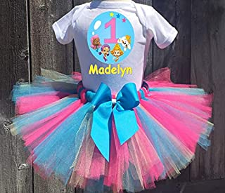 Bubble Guppies Oona Molly And Deema Personalized Birthday Outfit Tutu Set