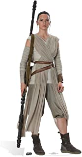 Star Cutouts Ltd Official Cutouts Star Wars Rey Daisy Ridley (SW:TFA) Lifesize Cardboard Cut out Cartón de tamaño Real, 18...