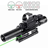 Pinty Rifle Scope 3-9x32 Rangefinder Illuminated...