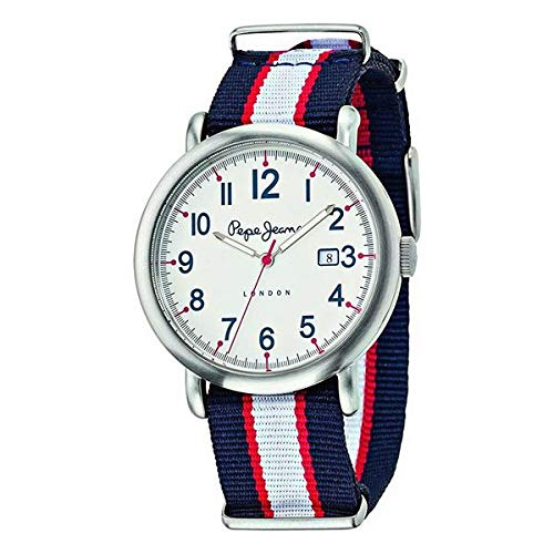 Pepe Jeans Reloj Analog-Digital para Mens de Automatic con Correa en Cloth S0330165