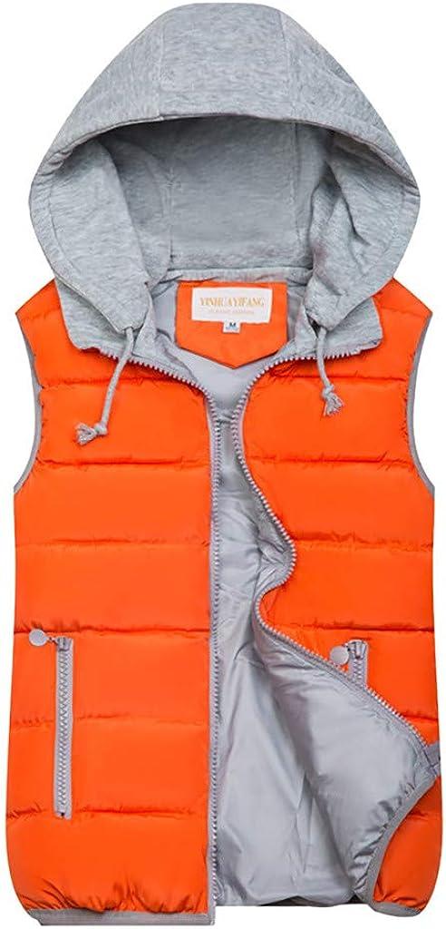 Limsea Women's Warm Gilet Vest Autumn Winter Drawstring Hoodies with Zipper Side Pockets Coat Jacket