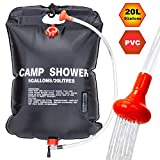 VIGLT Camping Shower Bag 5 gallons / 20L Portable Shower Bag for Outdoor Traveling Hiking Summer Shower