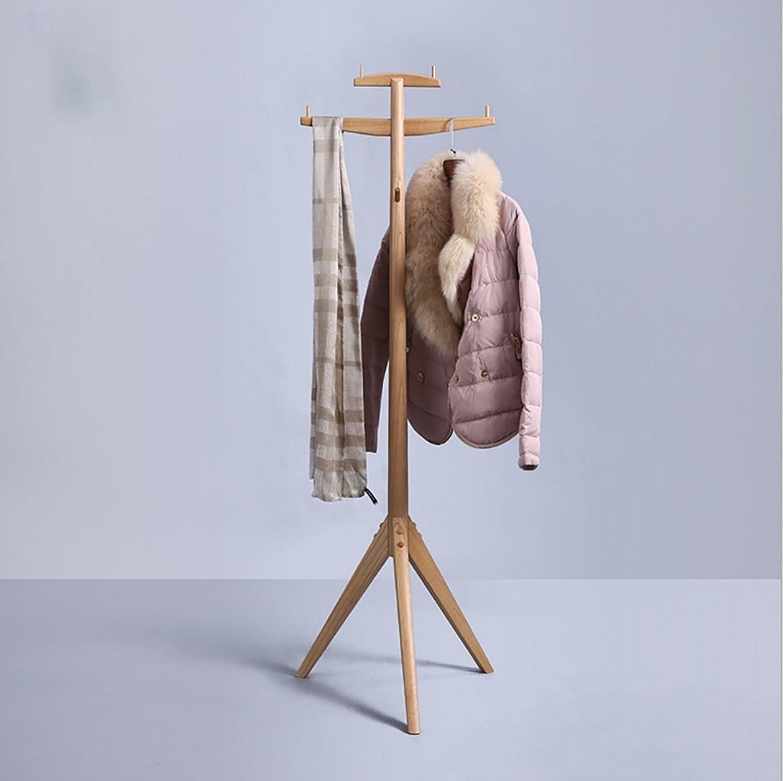 Coat Rack Coat Rack Solid Wood Floor Hanger Bedroom Hanger Creative Hanger Stand Free Standing Coat Rack