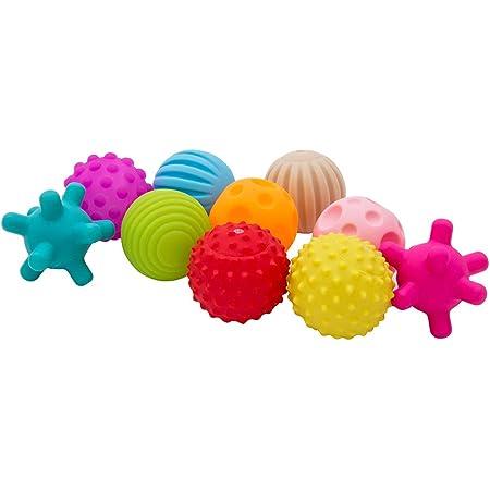 NewSoul ベビー用ボール 音が出るボール 知育玩具 10個 赤ちゃんおもちゃ 柔らかいボール 想像力を育つ知育玩具 おままごと 新生児 ベビー 男の子 女の子 おもちゃ クリスマス 誕生日プレゼント 0か月から遊べる 1歳 2歳 3歳 贈り物 誕生日 入園 出産祝い ギフト オモチャ 知恵おもちゃ 早期開発 教具 持ち運びに便利 バック付き