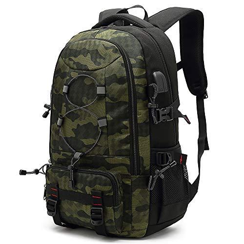XQXA Mochila de viaje para ordenador portátil, 45 L, mochila duradera, apta para computadora de 17,3 pulgadas, mochilas de negocios para mujeres y hombres