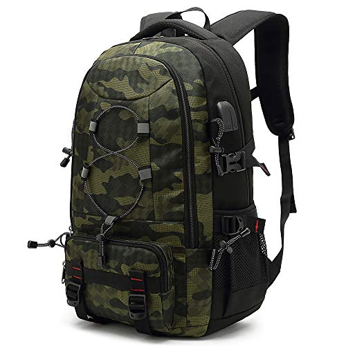 XQXA Mochila de viaje para ordenador portátil, 45 L, mochila duradera, apta para...