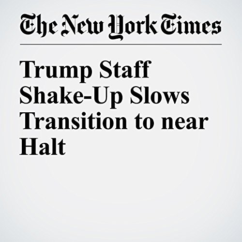 Trump Staff Shake-Up Slows Transition to near Halt cover art