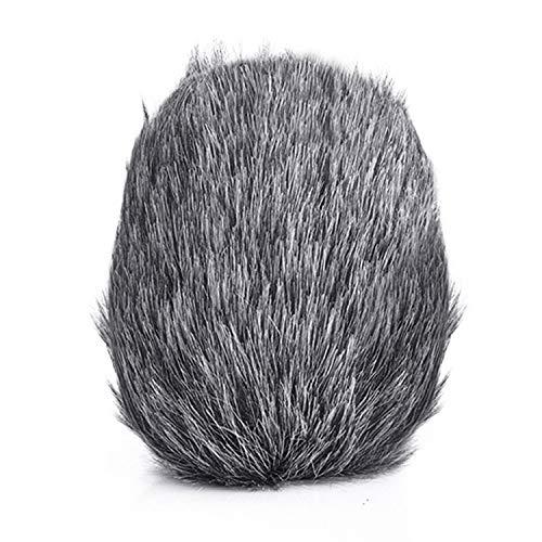 Draagbare microfoon Mic Harige voorruitkap Mof Windscherm voor opnames Reizen Binnen Buiten Gebruik 7x7,5 cm