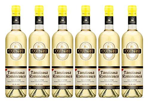 Cotnari | Tamaioasa Romaneasca – Rumänischer Weißwein süß | Weinpaket (6 x 0.75 L) - Black Label - D.O.C. – C.T. + 1 Kugelschreiber Amigo Spirits gratis