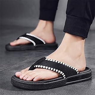 Men's Fashion Flip Flops Soft Summer Outdoor Casual Slippers Beach Platform Sandals Non-slip Home Shoes (Color : All Black 2502, Shoe Size : 39)