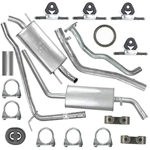 Schalldämpferset Kollektorrohr + Abgasrohr + Mitteltopf + Auspuff-Endtopf+ Montagesatz