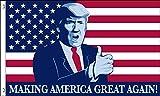Donald Trump President Make America Great Again MAGA Thumbs Up USA 3x5 Feet Flag