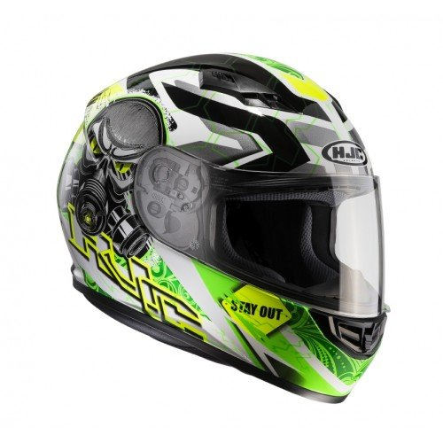 Casco moto HJC CS 15 RAFU MC4H, Nero/Verde, L