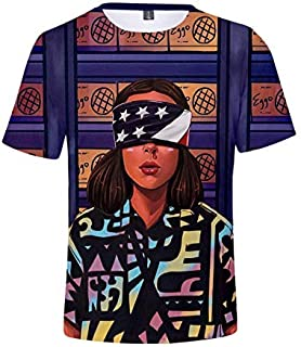 Camiseta Stranger Things Hombre, Camiseta Stranger Things Mujer Manga Corta Unisex Impresión 3D T Shirt Abecedario Impresi...