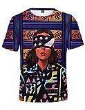 Camiseta Stranger Things Hombre, Camiseta Stranger Things Mujer Manga Corta Unisex Impresión 3D T Shirt Abecedario Impresión T-Shirt Niña Regalo Camisa Verano Niño Camisetas y Tops