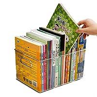 BRAVE 透明 収納 ブック BOX 雑誌 本 単行本 カタログ 大量 クリア 透ける 見える 頑丈 棚 ラック 整理 掃除 便利 MV-BOOKON