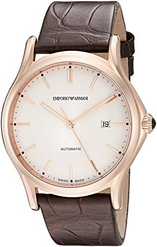 Emporio Armani Swiss Made Herren ars3012Automatische Anzeige Schweizer Uhr, Braun