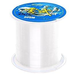 Sicai– Fil de pêche monofilament en nylon transparent, 500mètres – Environ 0,26mm de diamètre