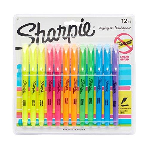 Marcador de texto Sharpie, 12 unidades, Highlighters, Chisel Tip