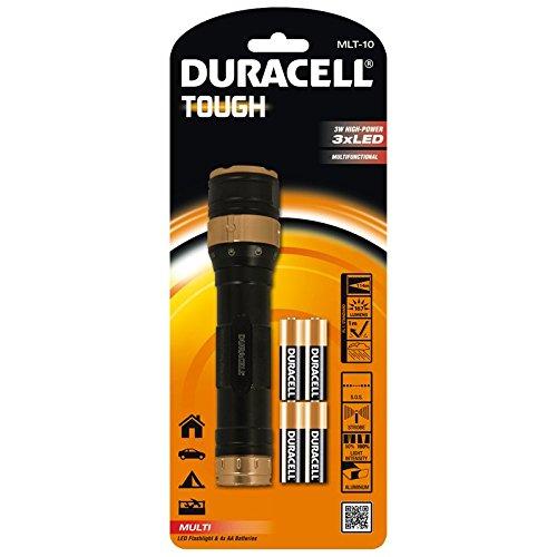 Duracell MLT-10 - Linterna (Linterna de mano, Negro, Naranja, Aluminio, 3 lámpara(s), LED, 160 lm)