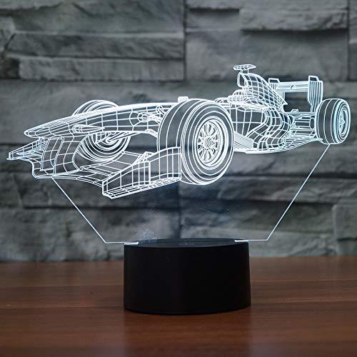 Zhuhuimin Creatief lopen 3D geleide tafellamp slaapkamer radiator decoratie 3D nachtlicht 7 kleuren veranderende tafellamp