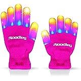 The Noodley Pink Light Up LED Gloves for Kids, Girls...